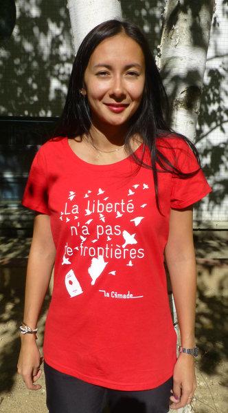 """T-shirt pour femme """"La liberté n'a pas de frontières"""""""