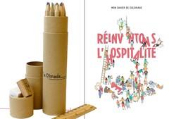 Cahier de coloriage et crayons de couleur