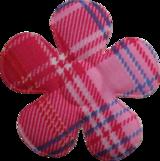 Applicatie Bloem roze met ruit