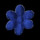 Applicatie Bloem blauw satijn