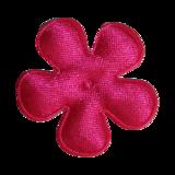 Applicatie Roze satijn bloem