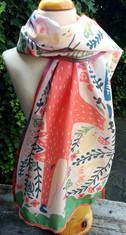 Sjaal Roze print