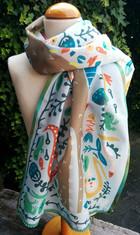 Sjaal Groene print