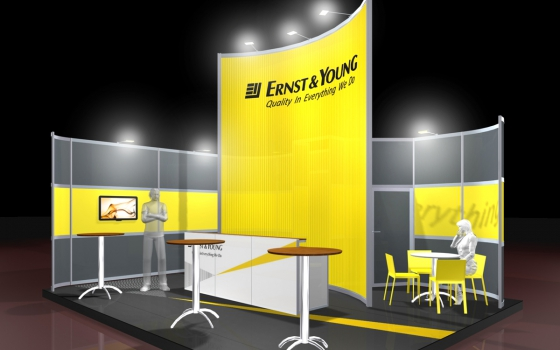 Corner Exhibition Stands Yellow : Turnkey stands exhibition systems