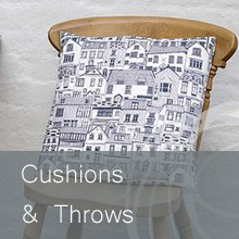 Stunning range of knitted wool cushions, linen cushions, tactile throws, lots of colours & styles.