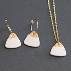 Porcelain Necklace & Earrings