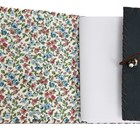 Handmade Leather A6 notebook with Floral Lining