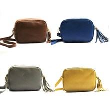 Leather Bag with Tassle 4 colours