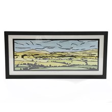 Julia Garner Lino Cut Print of Skiddaw