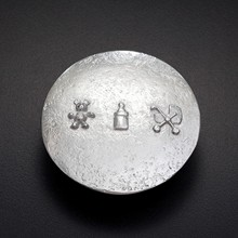 Hand Cast Pewter Baby Box