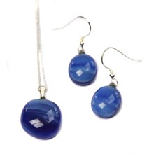 RD Glass Necklace and Earrings