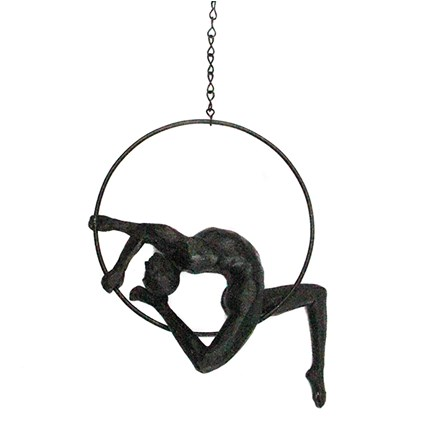 Bronze Effect Acrobat on Ring