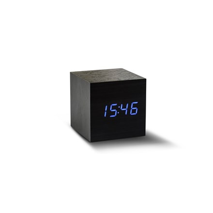 Gingko Black And Blue Click Clock