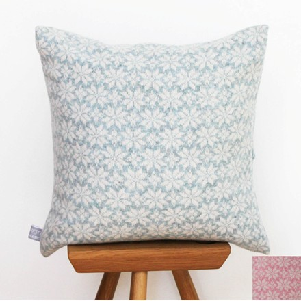Handmade Fairisle Star Cushion in Lambswool