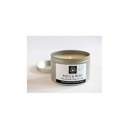 Mils & Boo Soy Wax Candle Rhubarb & Ginger