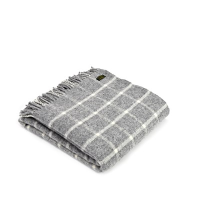 Tweedmill Throw In Checkered Check Grey