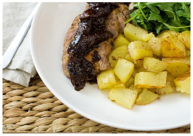 Roasted Pork with Balsamic Fig Sauce Recipe | HelloFresh