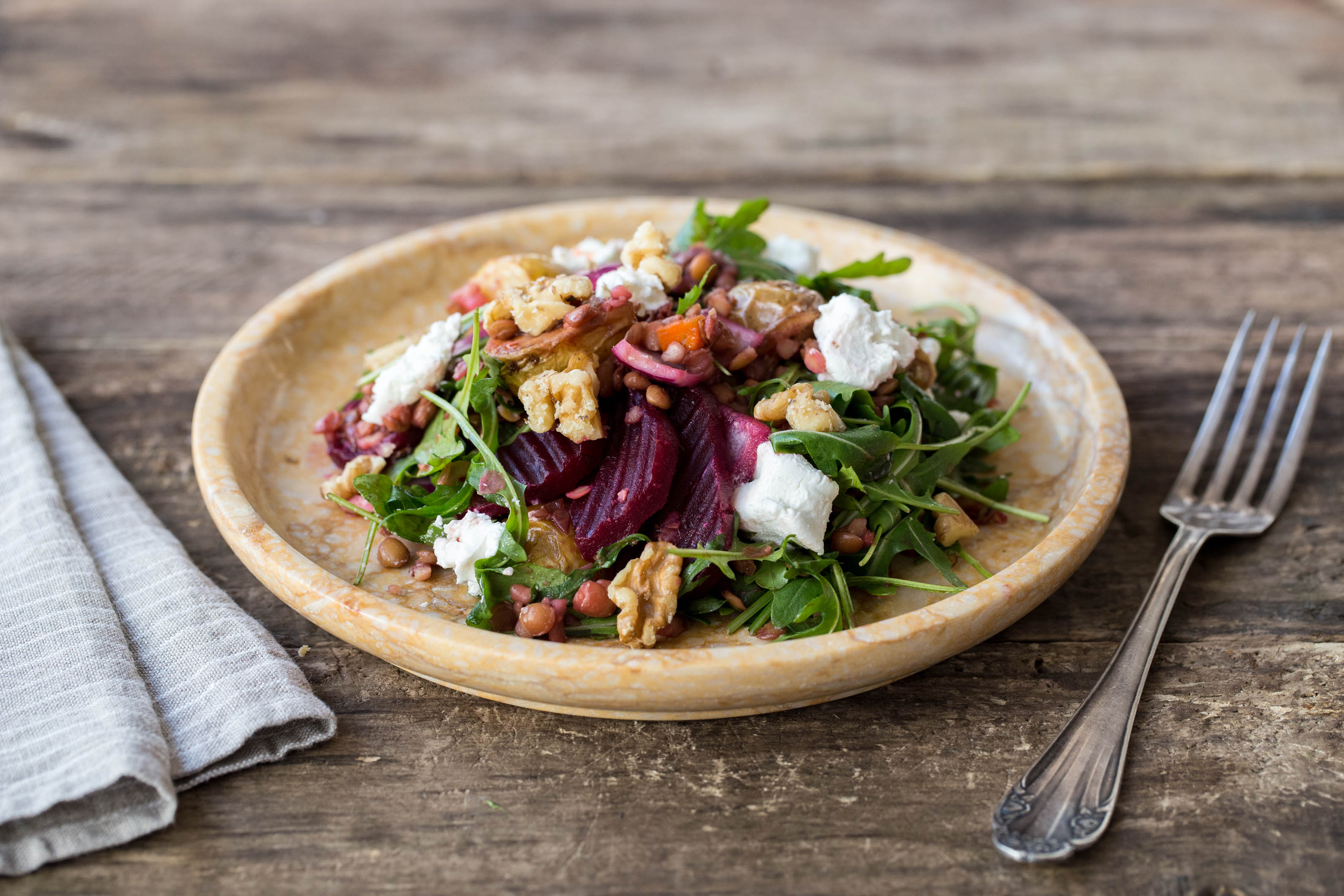 Roasted Beet & Lentil Salad with Goat Cheese Recipe | HelloFresh
