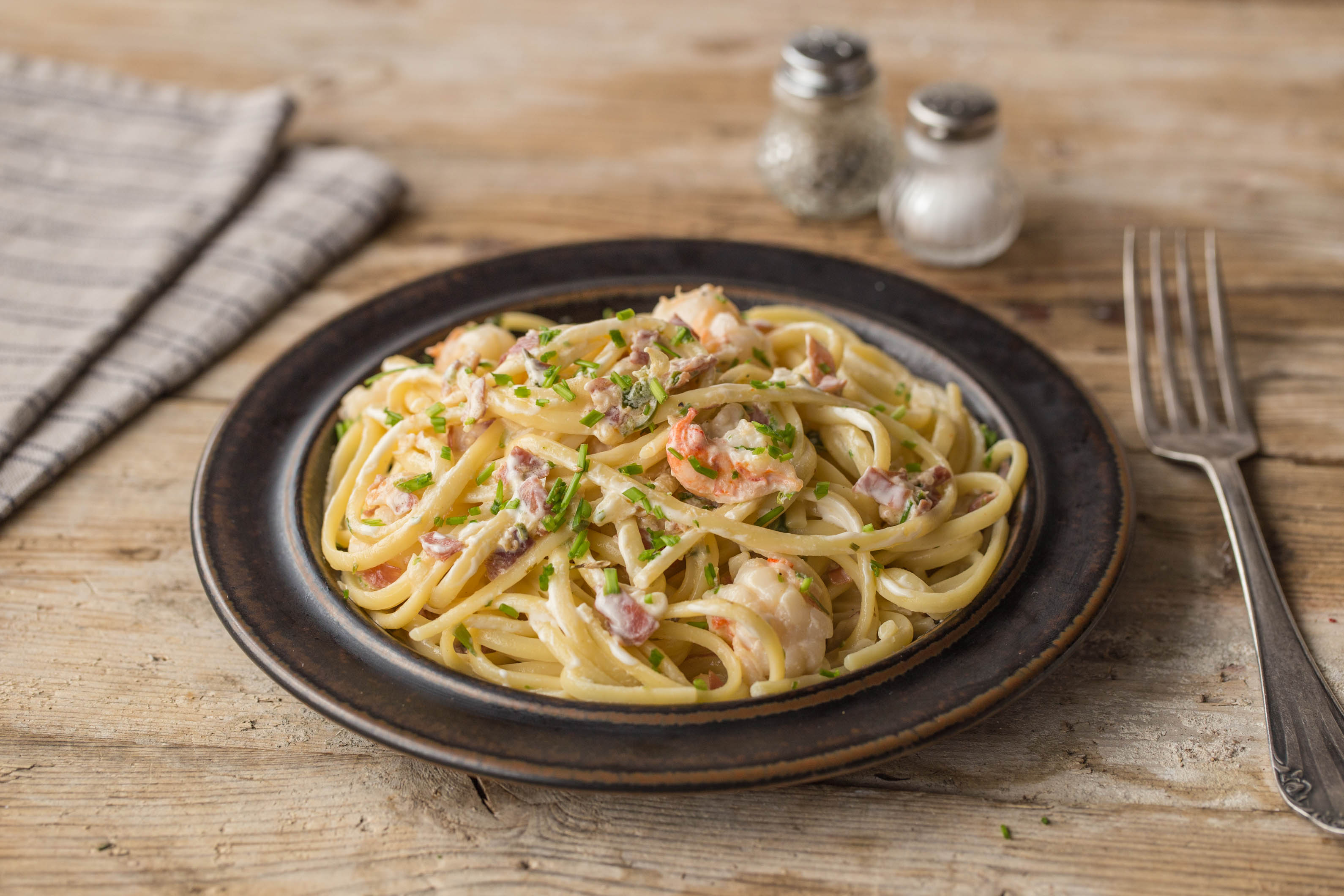 HelloFresh Prawn and Serrano Linguine