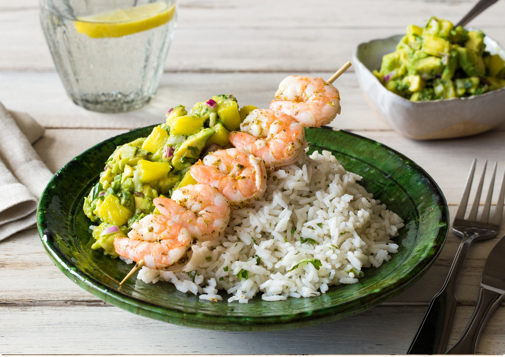 ... lime lime shrimp and pineapple kebabs with lime viniagriette recipes