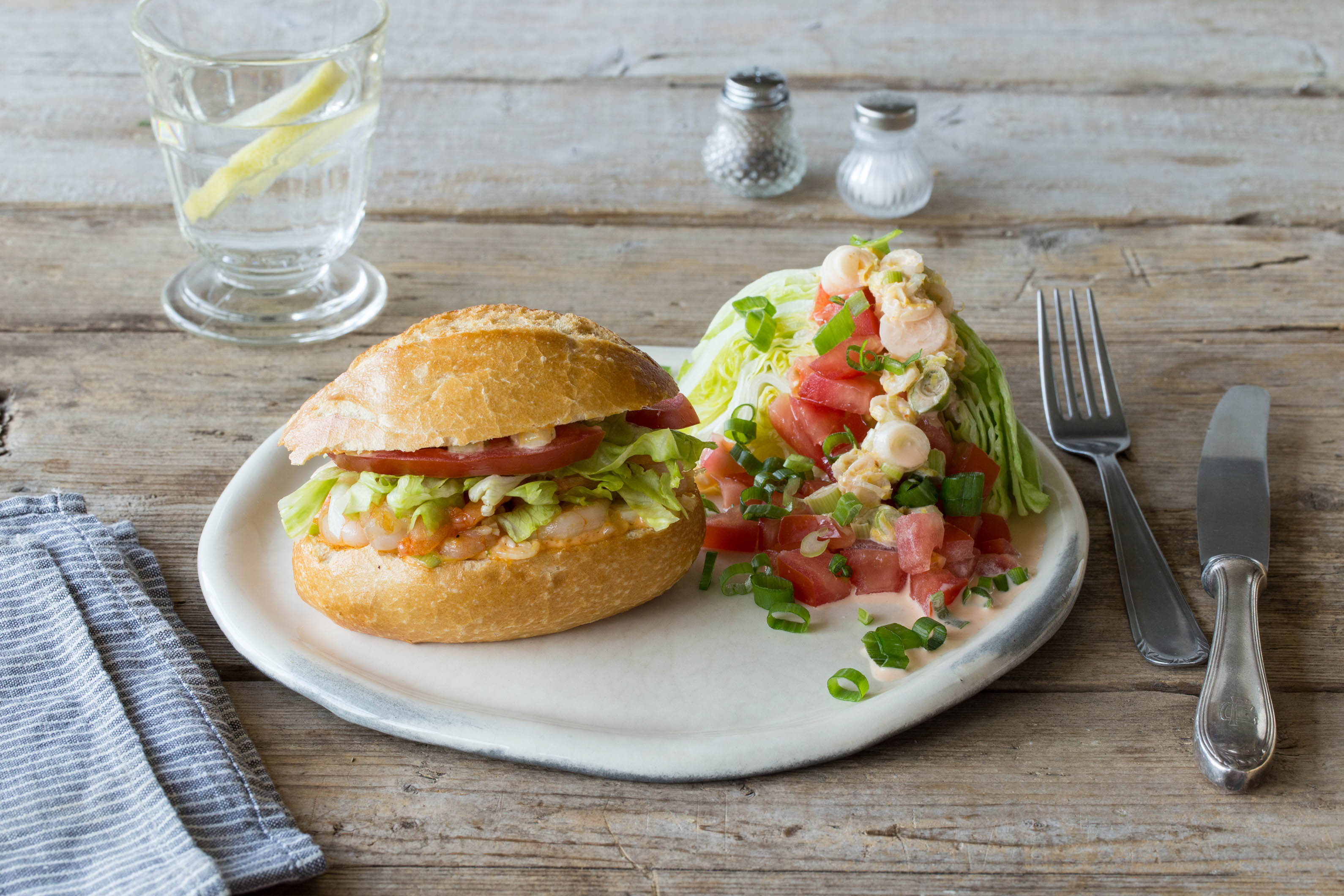 Shrimp Po'Boys with Remoulade and Creole Wedge Salad Recipe ...