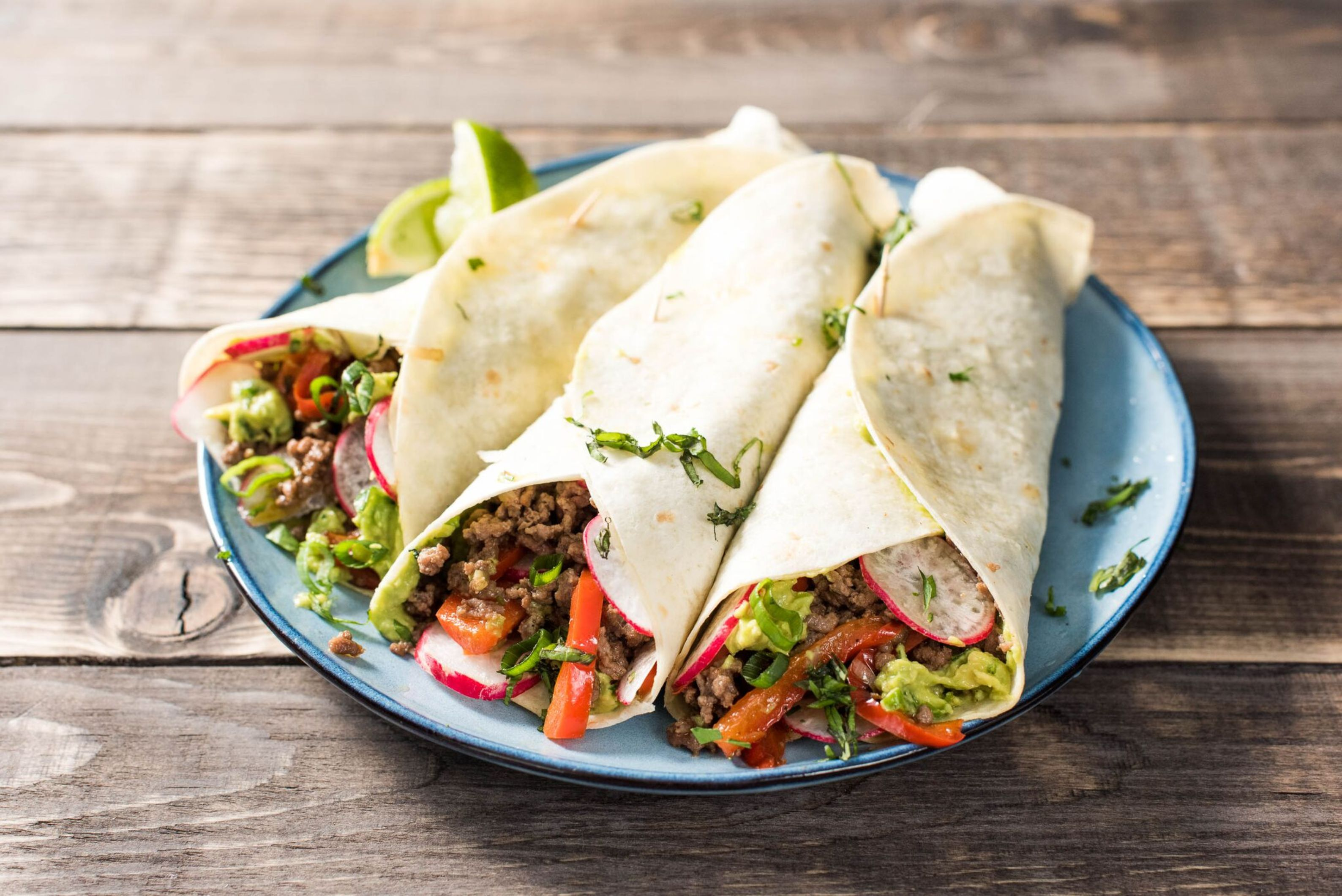 Smoky Beef Tacos with Peppers, Guacamole, and Radish ...