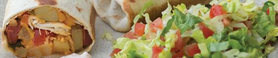 Smokey Burritos  with Chipotle Sour Cream Dressing thumb