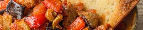 Sicilian Caponata with Herbed Pork and Garlic Ciabatta thumb