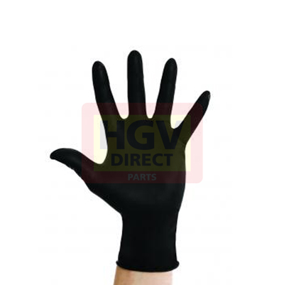 BOX X 100 BLACK VYNATRILE GLOVES - L