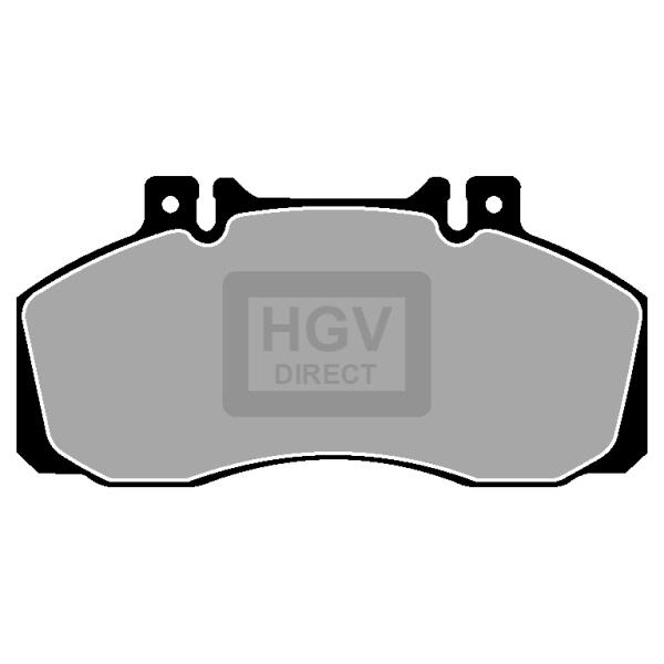 TRUCK HGV BRAKE PADS SET CVP016