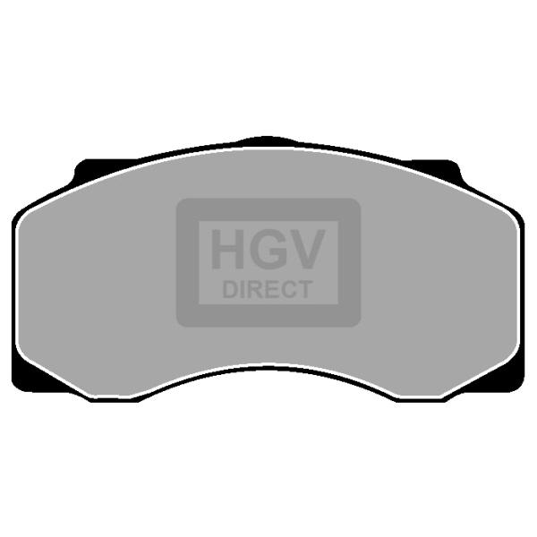 TRUCK HGV BRAKE PADS SET CVP022