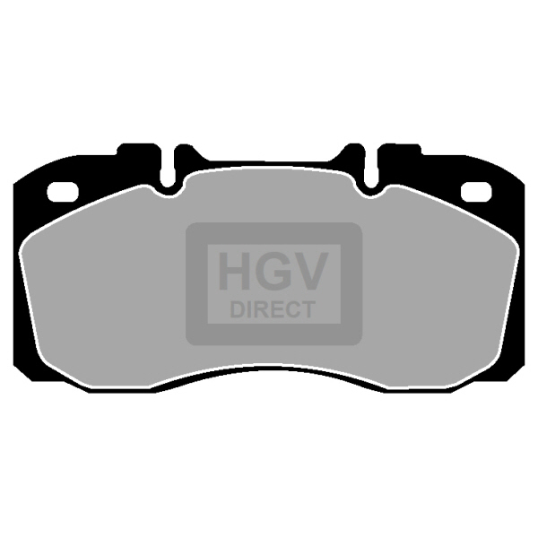 TRUCK HGV BRAKE PADS SET CVP025 IVECO EUROCARGO