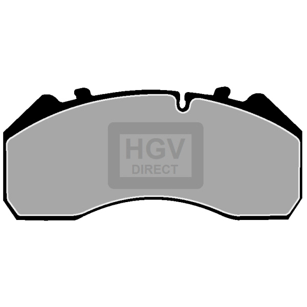 MERCEDES-BENZ ATEGO I FRONT OR REAR BRAKE PAD SET [1215-1528]