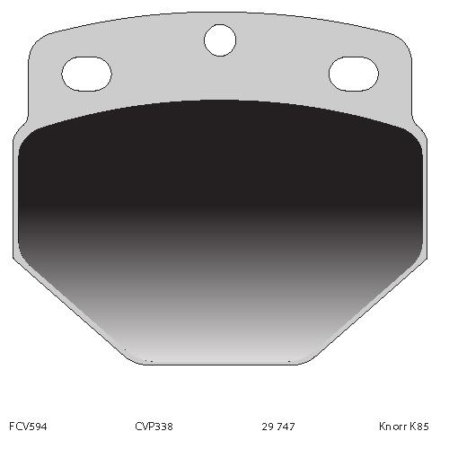TRUCK HGV BRAKE PADS SET CVP338