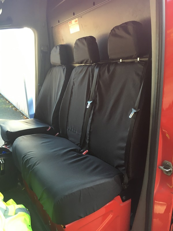 SPRINTER & CRAFTER 2010 ONWARDS FRONT DOUBLE SEAT COVERS- BLACK