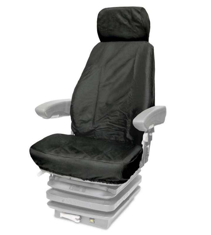 TAILORED HIGH BACK TRACTOR/PLANT SEAT COVER- BLACK