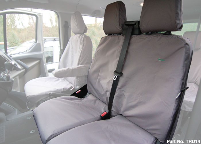 TRANSIT 2014 DOUBLE PASSENGER SEAT COVER- GREY