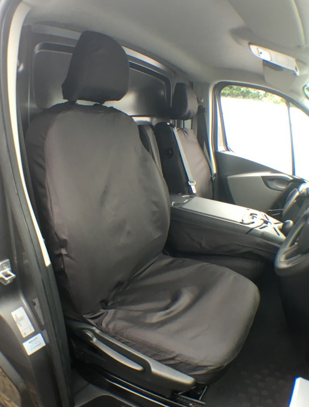 TRAFFIC VIVARO DRIVER SEAT COVER (2014 ONWARDS)- BLACK