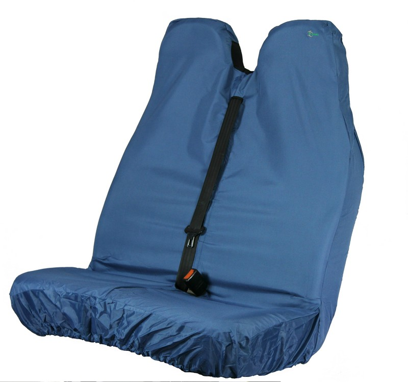 VAN PASSENGER DOUBLE SEAT COVER- BLUE
