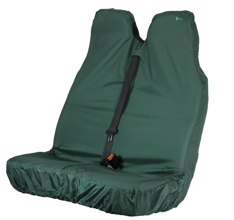VAN PASSENGER DOUBLE SEAT COVER- GREEN