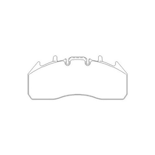 RENAULT RVI PREMIUM 450.25 BRAKE PAD SET REAR