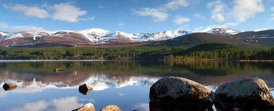 Loch Morlich and the Cairngorms