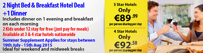 2 nights B&B & 1 Evening Meal