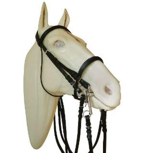 Cabezada inglesa doma con muserola ancha for Cabezadas para caballos