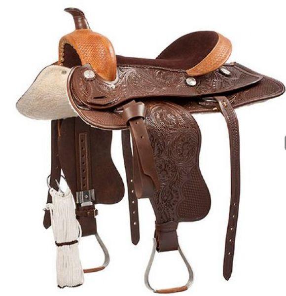 Silla western silla tejana western lexhis topeca - Silla montar caballo ...