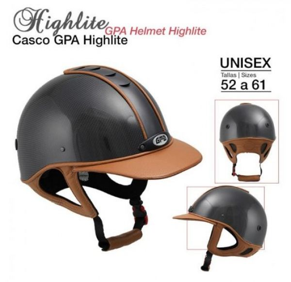 Casco de equitacion Gpa Highlite 2X Tallas: 52 A 61