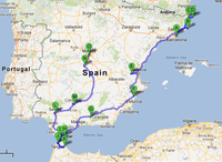 Small hitchhiking from spain to india