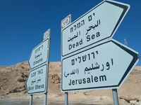 Small hitchhiking from ejlat izrael to ein gedi izrael