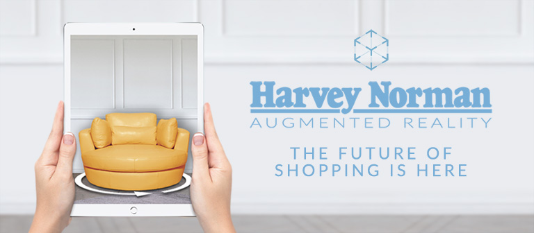 Harvey Norman Augmented Reality Banner