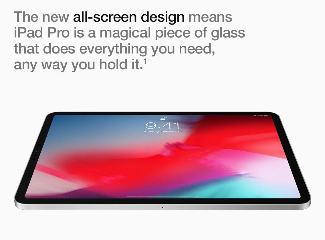 Featuring an all screen design